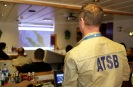 An ATSB investigator provides a briefing to crew members in preparation for the Fugro Discovery systems trial run. Source: ATSB, photo by ABIS Chris Beerens, RAN.