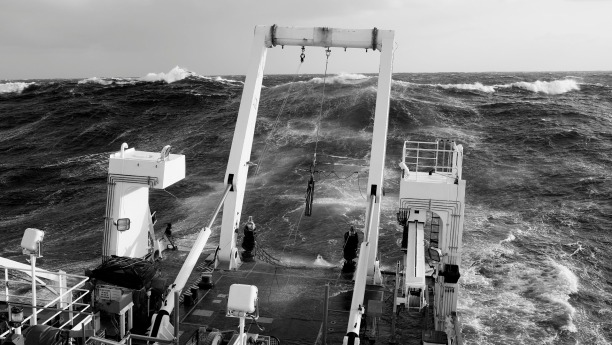 Fugro Discovery encounters rough weather in April 2016. Source; ATSB, photo by Chris Straddon.